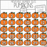 Pumpkin Number Tiles (Moveable Clipart) by Bunny On A Cloud