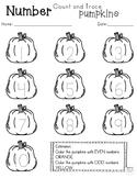 Pumpkin Number Trace 1-20 and Ten Frames