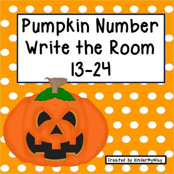 Pumpkin Number Write the Room (Numbers 13-24)