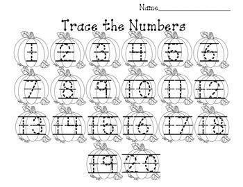 Pumpkin Number Writing
