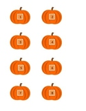 Pumpkin Number and Alphabet Cards