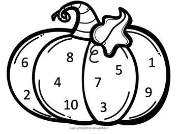 Pumpkin Number practice Bundle