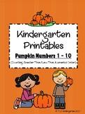 Pumpkin Numbers 1 - 10