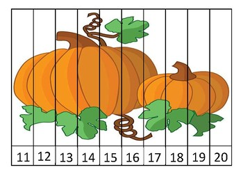 Pumpkin Numbers 11-20