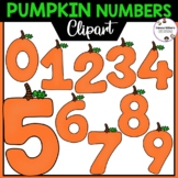 Pumpkin Numbers Clipart 0-9