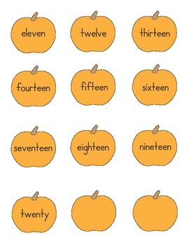 Pumpkin Numbers Matching 2