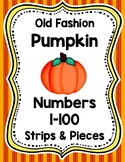 Old Fashion Pumpkin Number Strips and Pieces 1-100