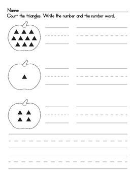 Pumpkin Numerals Worksheet