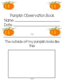 Pumpkin Observation Book