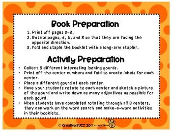Pumpkin Observation Booklet