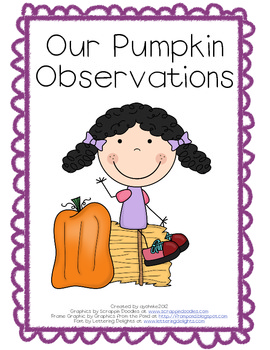Pumpkin Observation Sheet Using the Five Senses