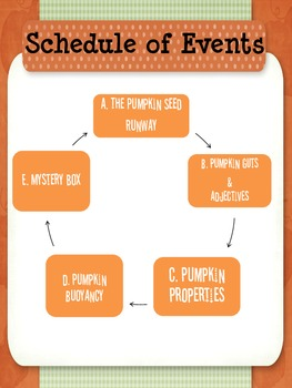 Pumpkin Olympics: Fall or Halloween Center Activities for Descriptive Writing