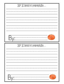 Pumpkin Opinion Writing