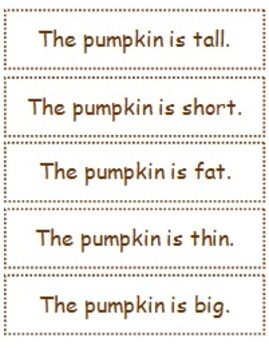 Pumpkin Opposites Adapted Book for students with Special Needs