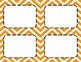 Pumpkin Orange Chevron Classroom Labels and Tags