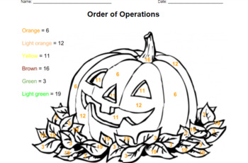 Pumpkin Order of Operations
