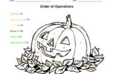 Pumpkin Order of Operations