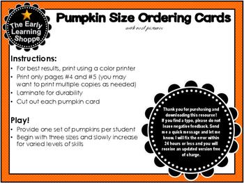 Pumpkin Ordering Cards