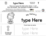 Pumpkin Pail Girl - Editable Name Booklet with Beginning L