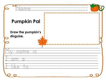 Pumpkin Pal Writing