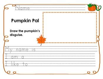 Pumpkin Pal Writing