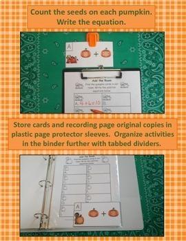 Pumpkin Palooza Addition Centers Bundle