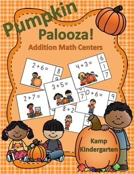 Pumpkin Palooza Addition Math Centers (Sums of 0 to 10)