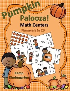 Pumpkin Palooza Math Centers