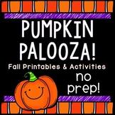 Pumpkin, Fall, Halloween Activities: NO PREP Printables & Activities