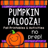 Pumpkin, Fall, Halloween Activities: NO PREP Printables & Activities