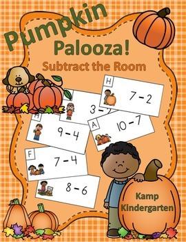 Pumpkin Palooza Subtract the Room (Minuends to 10)