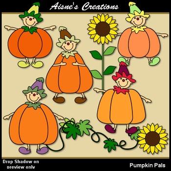 Pumpkin Pals Clip Art