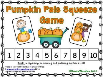 Pumpkin Pals Squeeze Number Game