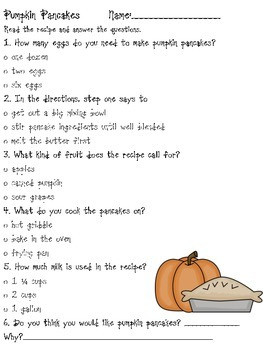 Pumpkin Pancakes (Recipe)