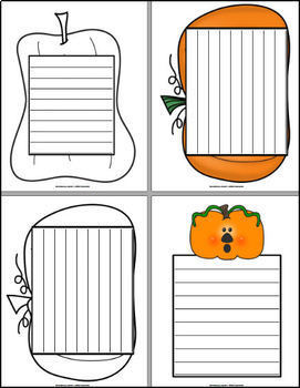 Pumpkin Paper - 9 designs for Fall Writing