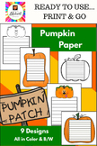 Pumpkin Paper - 9 designs for Fall Writing