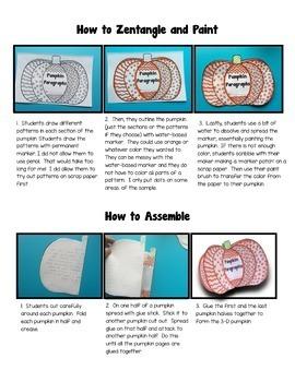 Pumpkin Paragraph 3-D Craftivity