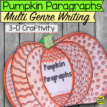 Pumpkin Paragraph 3-D Craftivity