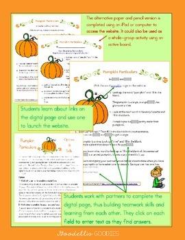 Fall - All About Pumpkins - Using an Online Encyclopedia