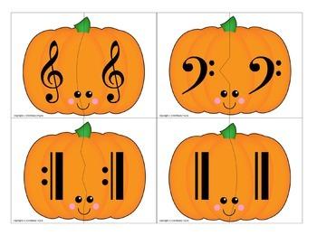 Partner Cards: Pumpkin Cards for Choosing Partners {Music Symbols & Terms}
