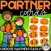 Partner Cards: Pumpkin Cards for Choosing Partners {Music Symbols}