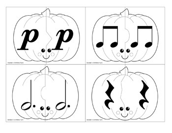 Partner Cards: Pumpkin Cards for Choosing Partners {Music Symbols}