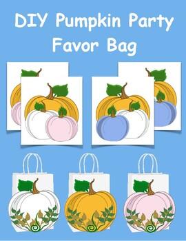 Pumpkin Party Favor Bag.