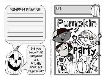 Pumpkin Party!  {Fun and facts booklet about pumpkins & their life cycle}