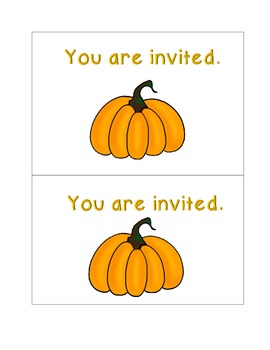 Pumpkin Party Invitation