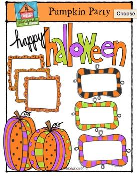 Pumpkin Party {P4 Clips Trioriginals Digital Clip Art}