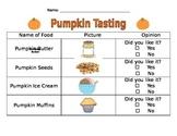 Pumpkin Party- Tasting Activity