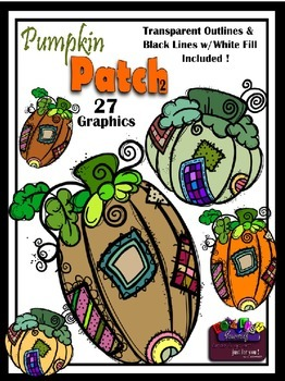 Pumpkin Patch 2 Clipart Reg. $2.75 Weekly Bargain only $1.38