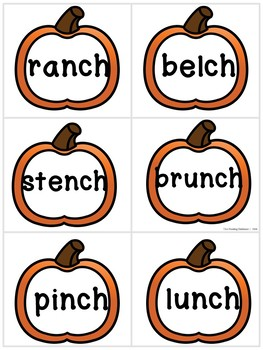 Pumpkin Patch - A CH and TCH Read and Write The Room Activity