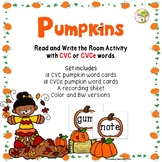 Pumpkins - A CVC and CVCe Read and Write The Room Activity